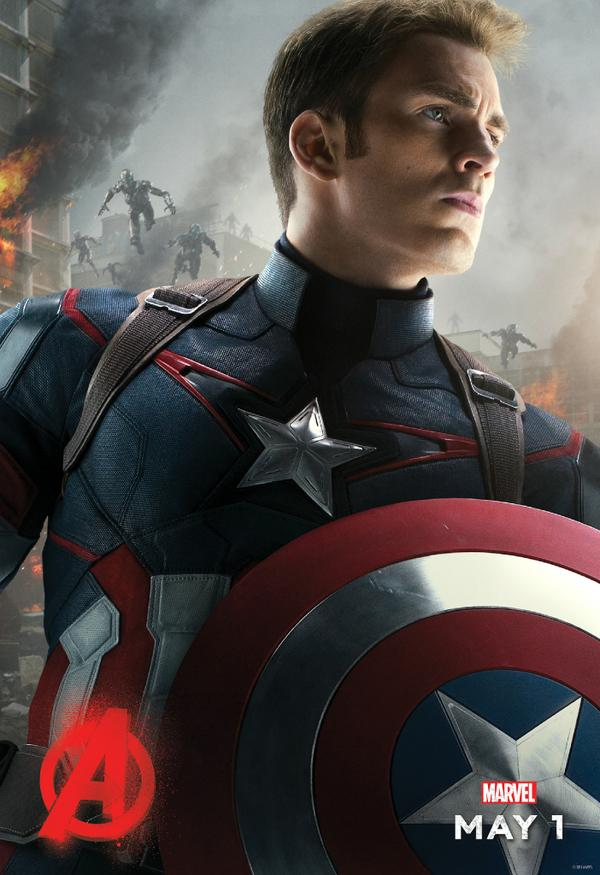 Avengers: Age of Ultron - il character poster di Captain America