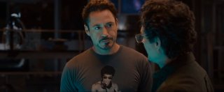 Avengers: Age of Ultron - Robert Downey jr. in una scena dal trailer