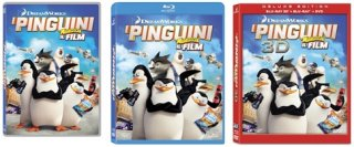 le cover homevideo de I pinguini di Madagascar