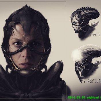 Un concept art di Alien realizzato da Neill Blomkamp