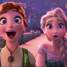 Frozen Fever: Elsa e Anna in una scena del corto