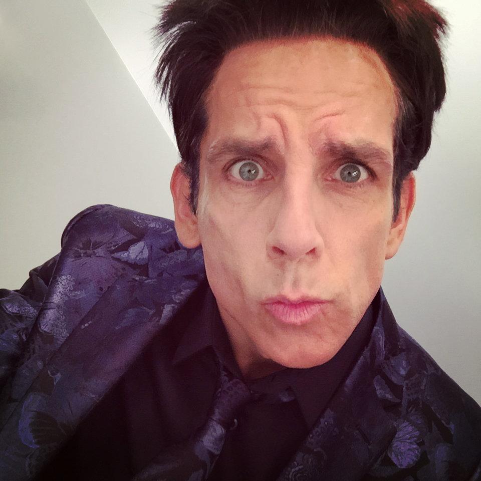 Ben Stiller prova la Blue Steel sul set di Zoolander 2 a Parigi