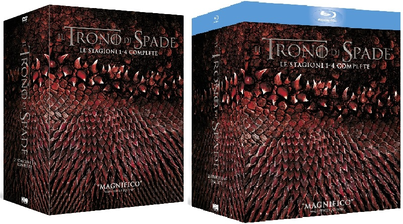 Le cover homevideo di Il trono di spade - Stagioni 1-4