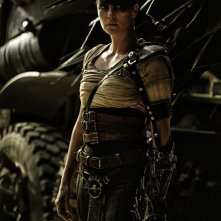 Mad Max: Fury Road - L'attrice Charlize Theron in una scena del film