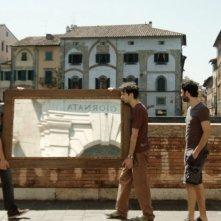 Fino a qui tutto bene: Paolo Cioni, Guglielmo Favilla e Alessio Vassallo in una scena del film
