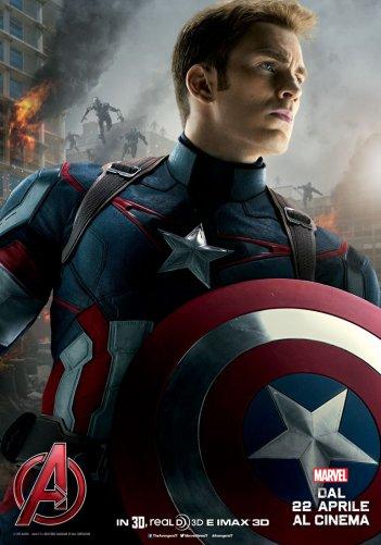Avengers: Age of Ultron, il character poster italiano di Captain America