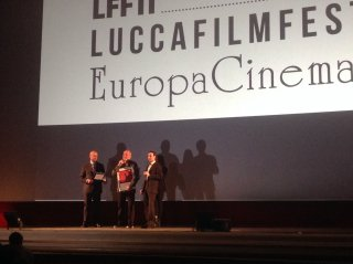 Terry Gilliam sul palco del Lucca Film Festival