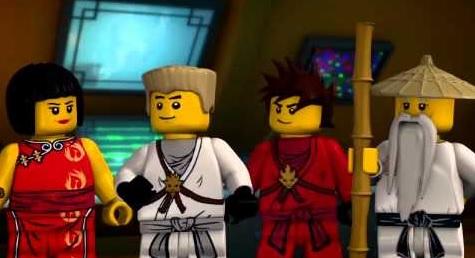 Una scena di Lego Ninjago