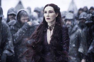 Il trono di spade: l'attrice Carice van Houten nel ruolo di Melisandre