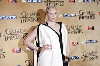 Il trono di spade 5 - Gwendoline Christie alla premiere di Londra