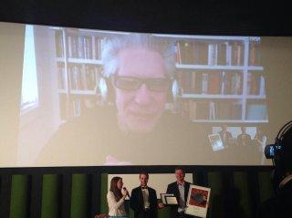David Cronenberg in collegamento con il Lucca Film Festival