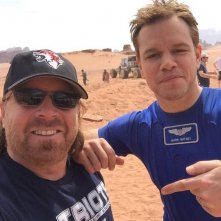 Sopravvissuto - The Martian: Matt Damon scherza sul set del film