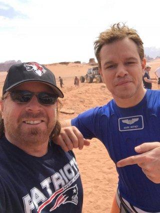 Sopravvissuto - The Martian: Matt Damon scherza sul set del film