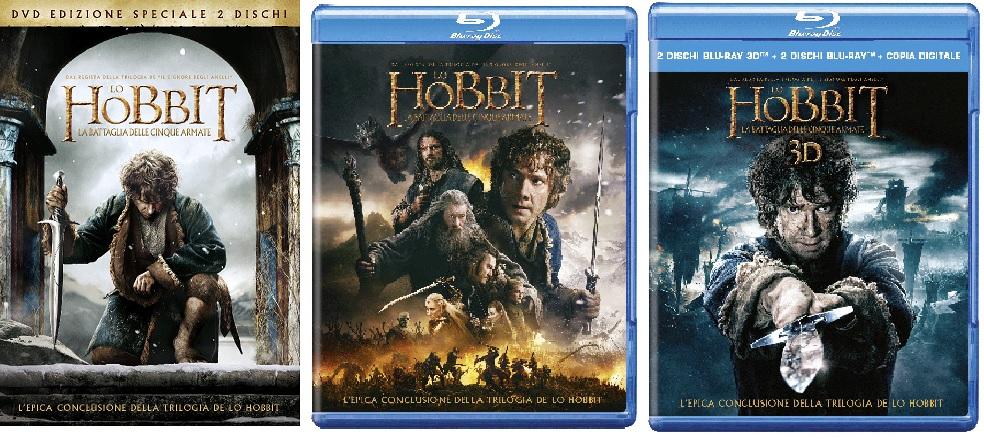 Le cover homevideo di Lo Hobbit: La Battaglia delle Cinque Armate