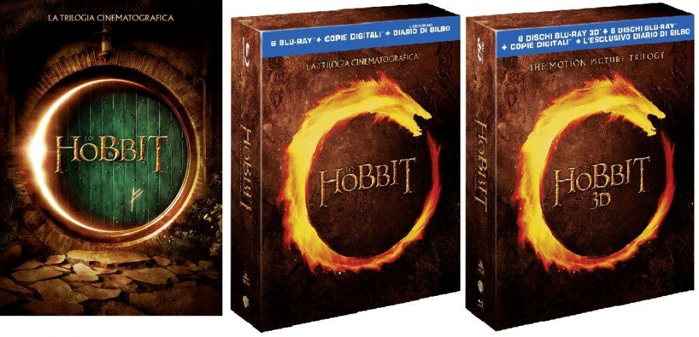 Le cover homevideo de Lo Hobbit - La trilogia