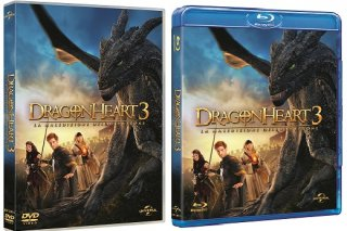 Le cover homevideo di Dragonheart 3