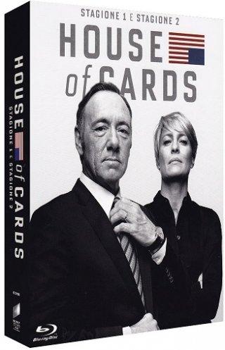 La cover del blu-ray di House of Cards stagioni 1 e 2