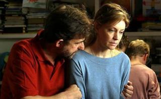 Mia madre: Nanni Moretti e Margherita Buy in una scena del film
