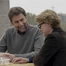 Mia Madre: Margherita Buy con Nanni Moretti in una scena del film sono sorella e fratello