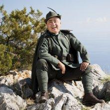 Soldato semplice: Paolo Cevoli sorride nei panni de Il Patacca in una scena del film