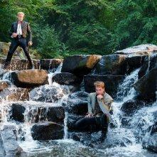 Into the Woods: Chris Pine con Billy Magnussen in una scena