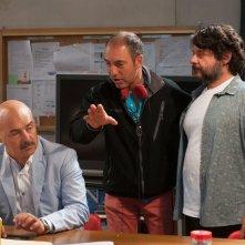 Tempo instabile con probabili schiarite: Luca Zingaretti con il regista Marco Pontecorvo e Lillo sul set del film