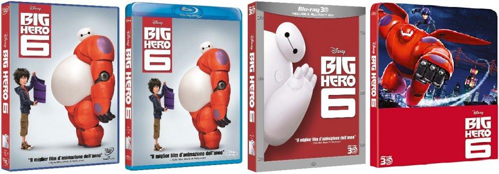Le cover homevideo di Big Hero 6