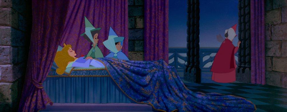 Un'immagine tratta dal classico Disney La bella addormentata nel bosco