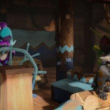 Ooops! Ho perso l'arca: Hazel e Dav in una scena del film animato