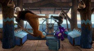 Ooops! Ho perso l'arca: Hazel, Dave e il Leone in una scena del film animato