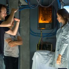 The Lazarus Effect: Olivia Wilde sul set del film con il regista David Gelb