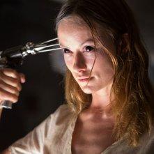 The Lazarus Effect: Olivia Wilde, nei panni della 'rivitalizzata' Zoe, in una scena dell'horror