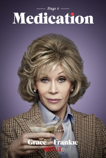 Grace and Frankie: Jane Fonda in un manifesto promozionale
