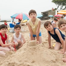 Le vacanze del piccolo Nicolas: l'allegra combriccola sulla spiaggia in una scena del film