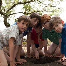 Le vacanze del piccolo Nicolas: Mathéo Boisselier nel ruolo di Nicolas insieme ai suoi nuovi amici in una scena