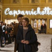 Mia madre: Nanni Moretti e Margherita Buy in una scena del film drammatico