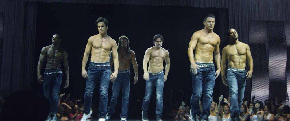 Magic Mike XXL: Channing Tatum, Matt Bomer, Adram Rodriguez e Joe Manganiello in una scena del film