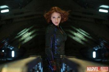 Avengers: Age of Ultron - Scarlett Johansson è Vedova Nera in una scena del film