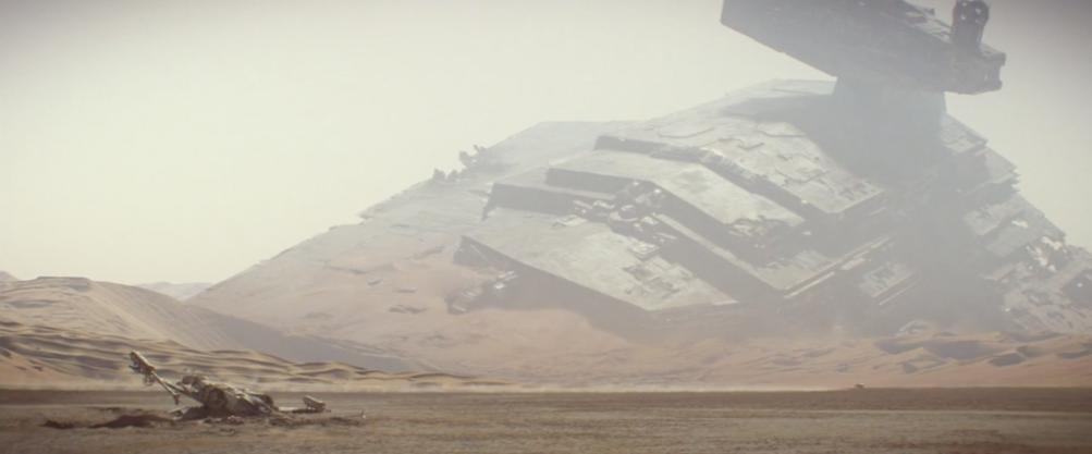 Star Wars: Episodio VII - Il risveglio della Forza: uno Star Destroyer insabbiato dal secondo teaser