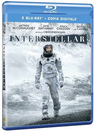 La cover del blu-ray di Interstellar