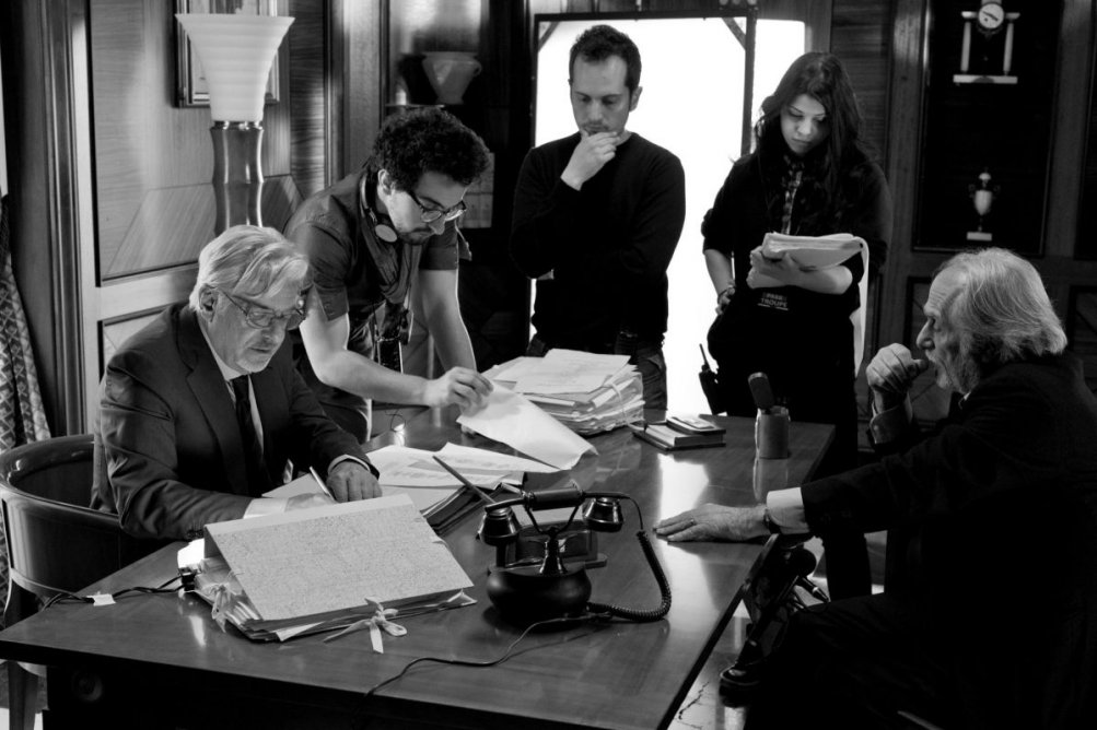 Il ragazzo della Giudecca: Luigi Diberti con Alfonso Bergamo e Giancarlo Giannini in un'immagine dal set