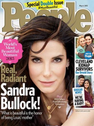 La copertina di People dedicata a Sandra Bullock, eletta la donna più bella del 2015