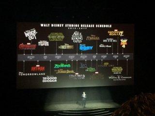Lo schema delle uscite Disney previste fino al 2017