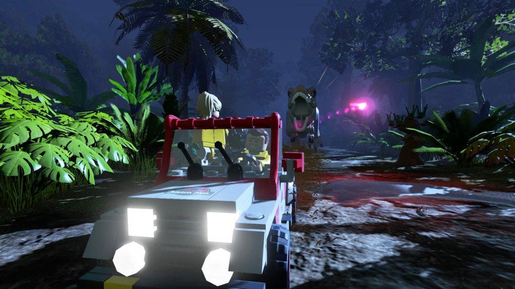 Lego Jurassic Wolrd, l'inseguimento del T-Rex