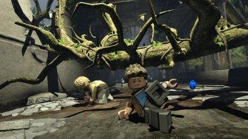Una scena di Lego Jurassic World