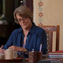 Ritorno al Marigold Hotel: Maggie Smith nei panni di Muriel, la co-proprietaria del Marigold, in una scena del film