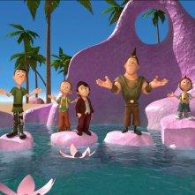 I 7 Nani: una colorata scena di gruppo tratta dal film d'animazione