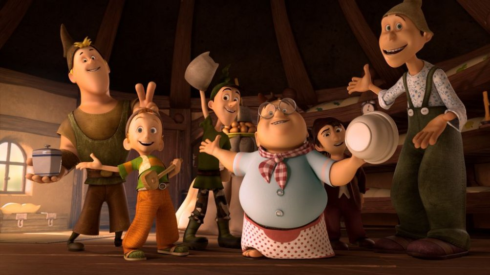 I 7 Nani: i nani in cucina in una simpatica scena del film d'animazione