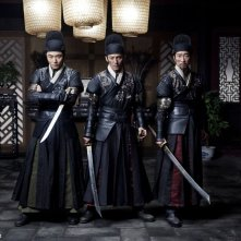 Brotherhood of Blades: Wang Qianyuan con Chang Chen e Ethan Li in una scena