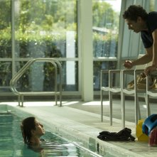 Cake: Jennifer Aniston sul set del film con il regista Daniel Barnz